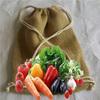 wooden handle jute bags/personalized jute tote bags/jute vegetable bag