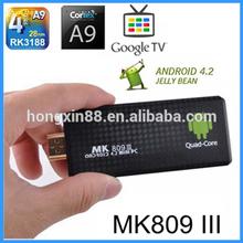 Anroid 4.2 Quad Core RK3188 Bluetooth Wifi pc to tv converter box