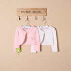 Hot sales latest design girl spring coat school knitted cardigan sweaters outfit
