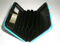 crystal money clip wallet with card holder