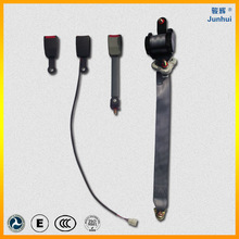 three point retractable extended seat belt with emergency locking