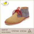 tela do laço de sapatos de camurça azul plataforma calçados sapata ocasional menino