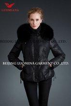 Luomiana Brand Name Fashion Waterproof Winter Long Down Coat For Women