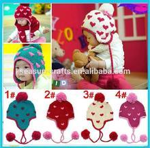 OEM Custom handmade knitting easter hats children