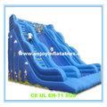 2014 de alta qualidade / china / crianças / PVC / comercial / ocean wave / seca inflável slides molhado