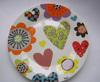 Haonai P-10218 hand made ceramic plates custom logo ceramic plate dishes
