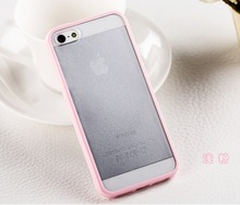 For iPhone 5/5s/5c Color line plastic case transparent clear case for iphone 5