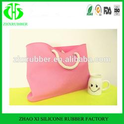 2014 rubber silicone women's handbags