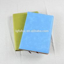 high quality plain pu leather notebook diary sky blue