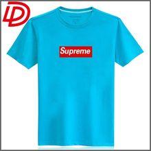 Fashion Brand New Men's Gentle Men Slim Fit O-Neck Short Sleeve Summer Tops Cotton Casual Blue T-Shirt