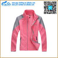 high visibility polar fleece jacket with elastic cuff womens