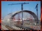 2014 new design steel structure car parking shed