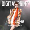 Textile Printing des foulards de soie numérique foulard Z085