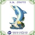 delfines resina de la escultura para la decoración del hogar