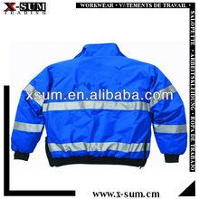 Winter Reflective Wateproof Blue Security Jackets