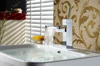 Fan-shaped design brass deck mounted single handle water tap garden faucet for bathroom