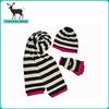 New design high quality knit hat scarf set