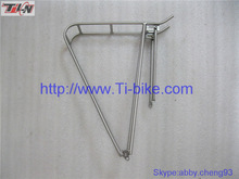 Factory Custom-built Titanium bicycle rear rack bike carrier for bike accessories