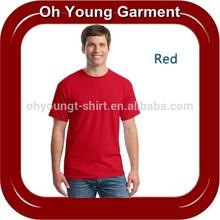 CVC 65%cotton 35%polyester Plain blank t shirts for mens,high quality cheapest price cotton dri fit plain men t shirts