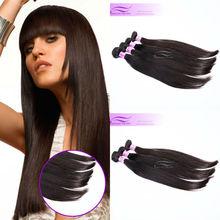 Natural silky straight virgin hair malaysian full cuticle clip in hair extensions