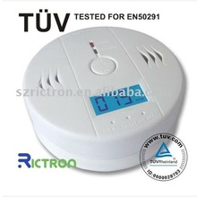 Carbon monoxide detector person CO alarm with LCD display