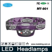 LED flashlight / LED headlamp for travel/maintenance/military/reading/camping/mining (MT-801)