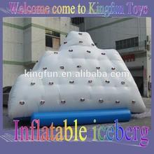 funny beach inflatable iceberg climbing wall/ inflatable floating iceberg