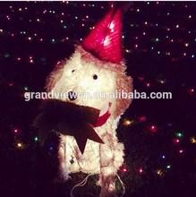 led 3D justin bobby cute dog xmas lights