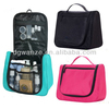 Graceful microfiber cosmetic toiletry bag with handle,hanging travel toiletry cosmetic bag