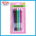 Fancy 5pcs blister card packed mechanical pencil with eraser and grips for children
