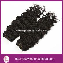 Wholesale high quality virgin peruvian deep wave hair weft