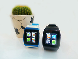 Wholesale 1.5 Inch watch mobile phone sync for android mobiles with displaying whatsapp,SMS,email, phone book & facebook