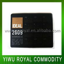Calendar Design Thin PVC Anti Slip Mouse Pad Mat