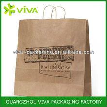 Logo printing custom restaurant paper bag for promotion wholesale