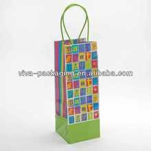 Graphic Happy Birthday Bottle Bag
