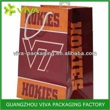 Virginia Tech Hokies foil lined paper bags