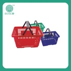 2014 Best Selling cheap small plastic baskets with handles
