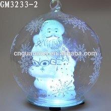 Saint Glass Christmas Ball Logo Names