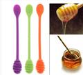 Sgs aprovar personalizado silicone colher de mel, uma colher de mel