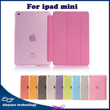 Ultra Slim Smart Cover with Hard Matte PC Case Stand PU Leather Case with Stand For Tablets ipad mini with retina display