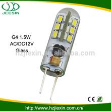 Extremely energy saving 2w glass led lighting g4 12v