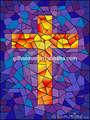 Vidrieras de la cruz para la ventana de la iglesia, el hotel, villa