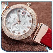 High Quality Luxury Rose Gold Diamond Fashion Lady Watches