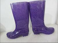 Purple Glossy Classic Rain Boots Waterproof
