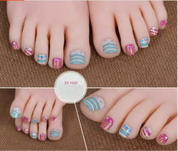 Girl fashion 3d nail toe art stickers, nail beauty 3d stickers, custom toe stickers