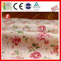 eco-friendly printed linen/cotton slub fabric