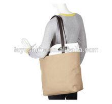 US style plain cotton canvas bag with handle