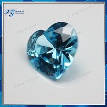 Falso aqua blu cz pietre semipreziose nomi, ebay cuore sciolto nomi di pietre vendita calda