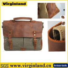 2014 new fashion plain canvas handbag vintage wholesale leather handbags