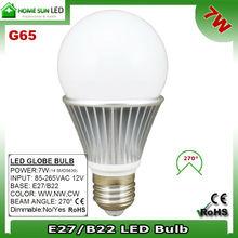 Solar LED bulb 7W 12V DC
